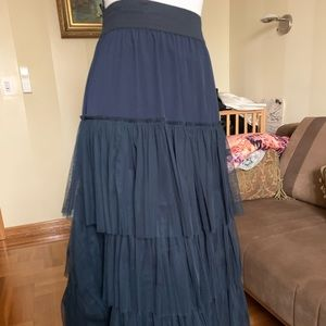 Twinset tulle ruffled Tiered  long skirt Sz L-XI.